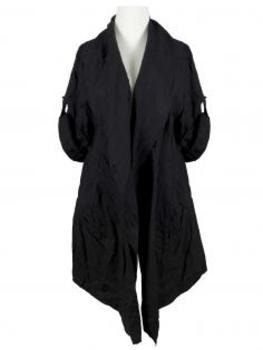 Leinen Jacke, schwarz von Spaziodonna