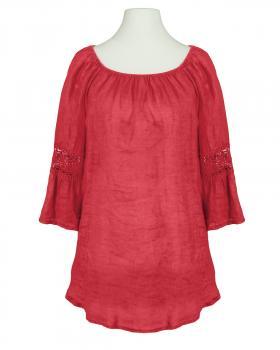 Leinen Tunika A-Form, rot von Pronto Moda (Bild 1)