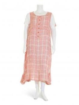 Leinenkleid 2-tlg., rosa