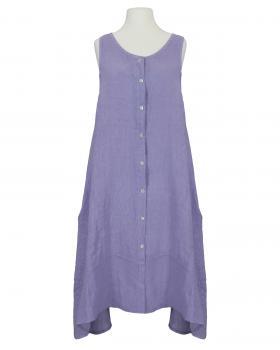 Leinenkleid A-Form, flieder von Made in Italy