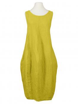 Leinenkleid Ballonform, gelb (Bild 1)