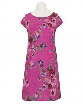 Leinenkleid Blumenprint, pink von Made in Italy