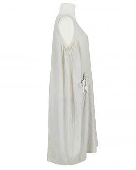 Leinenkleid gestreift, beige (Bild 2)