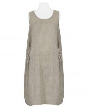 Leinenkleid gestreift, braun von Made in Italy