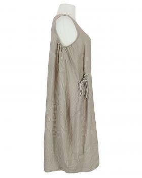 Leinenkleid gestreift, braun (Bild 2)