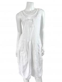 Leinenkleid A-Form, weiss von Puro Lino