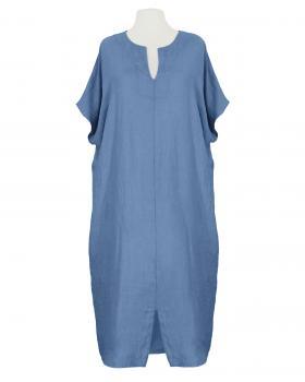 Leinenkleid Kaftan Stil, blau von Puro Lino