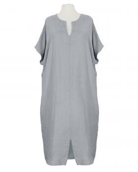 Leinenkleid Kaftan Stil, grau von Puro Lino