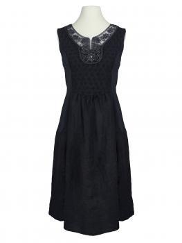 Leinenkleid Kordelstickerei, schwarz von Diana (Bild 1)