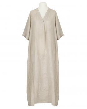 Leinenkleid lang, beige von Made in Italy