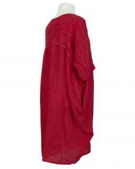 Leinenkleid Lochstickerei, rot (Bild 2)