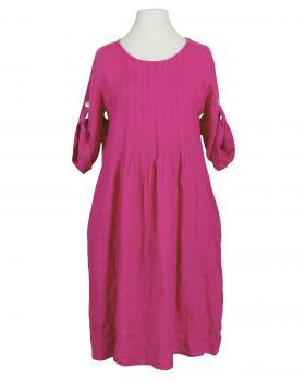 Leinenkleid mit Biesen, pink von Made in Italy
