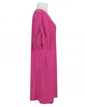 Leinenkleid mit Biesen, pink