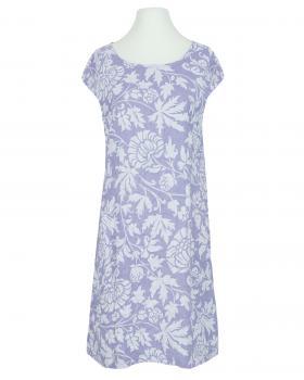 Leinenkleid mit Blütenprint, flieder von Diana