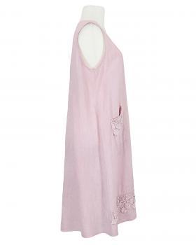 Leinenkleid mit Häkelspitze, rosa (Bild 2)