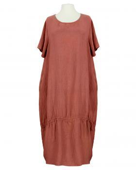 Leinenkleid mit Kordel, ziegelrot von Puro Lino