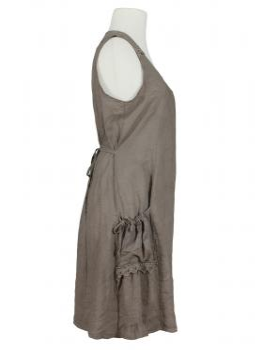 Leinenkleid mit Spitze, schlamm (Bild 2)