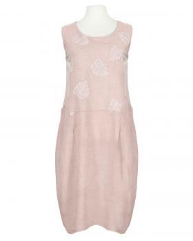 Leinenkleid mit Stickerei, rosa (Bild 1)