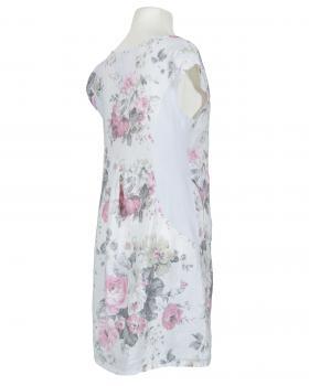 Leinenkleid Rosenprint, weiss (Bild 2)
