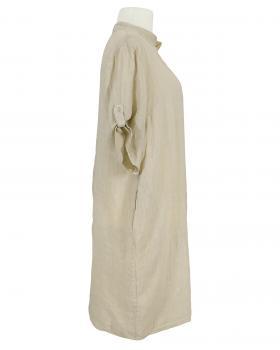 Leinenkleid Stehkragen, beige (Bild 2)