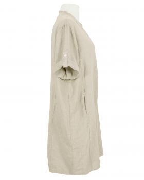 Leinenkleid Stehkragen knielang, beige (Bild 2)