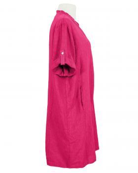 Leinenkleid Stehkragen knielang, pink (Bild 2)