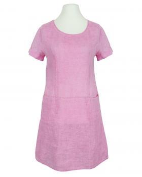 Leinenkleid Washed Look, pink