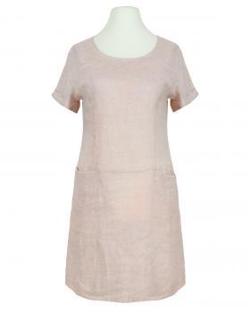 Leinenkleid Washed Look, rosa von Spaziodonna