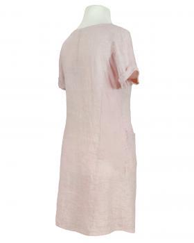 Leinenkleid Washed Look, rosa