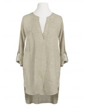 Leinentunika Stehkragen, beige von fashion made in italy (Bild 1)