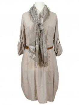 Long Bluse Baumwolle, taupe