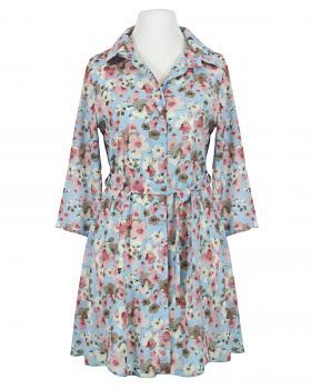 Long Bluse Crepe Chiffon, hellblau von Diana