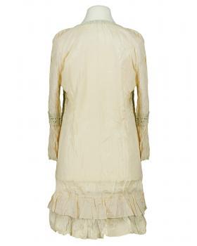 Long Bluse mit Seide, creme (Bild 2)