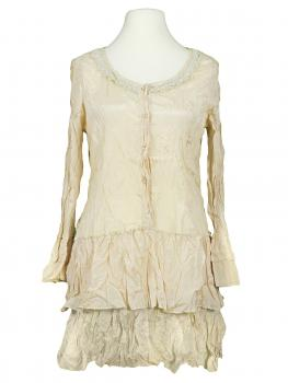 Long Bluse mit Seide, creme von Exquiss's Paris