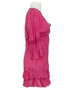 Long Bluse mit Seide, pink (Bild 2)