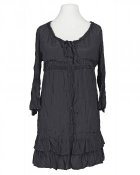 Long Bluse mit Seide, schwarz von Exquiss's Paris von Exquiss's Paris
