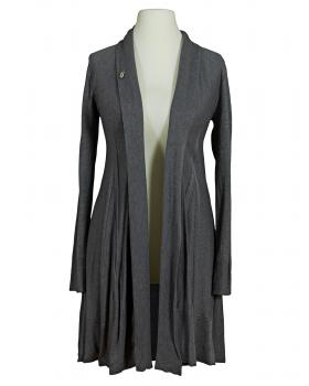 Long Strickjacke A Schnitt, grau von Fashion Moda