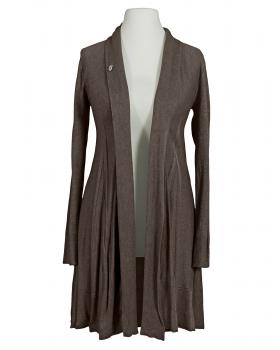 Long Strickjacke A Schnitt, schlamm von Fashion Moda