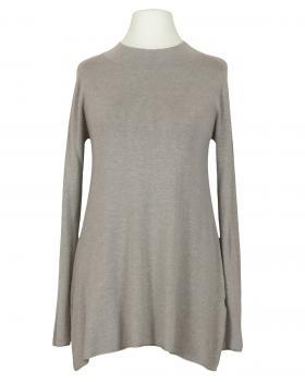 Long Pullover Feinstrick, braun