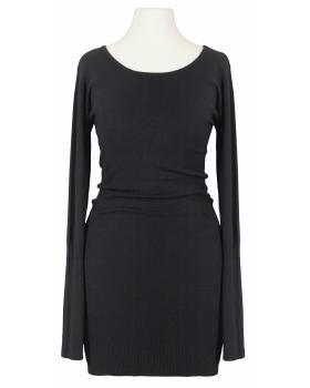Long Pullover mit Schnürung, schwarz von Classic Tricot