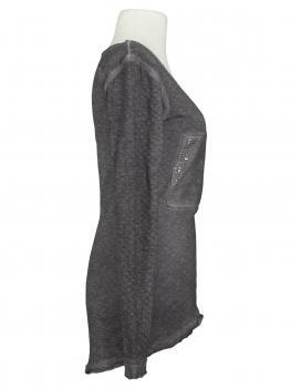 Long Shirt mit Pailletten, grau (Bild 2)