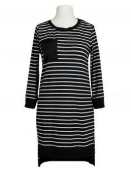 Long Shirt Streifen, schwarz