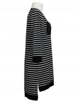 Long Shirt Streifen, schwarz (Bild 2)