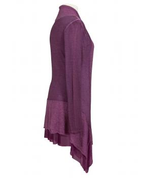Long Strickjacke, aubergine (Bild 2)