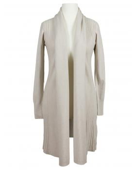 Long Strickjacke, beige