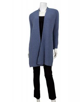 Long Strickjacke, blau (Bild 2)