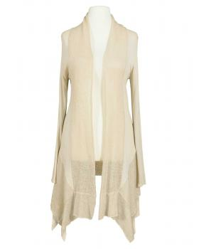 Long Strickjacke, creme