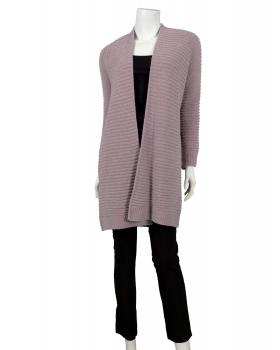 Long Strickjacke, rosa
