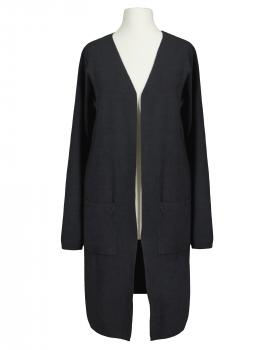 Long Strickjacke, schwarz