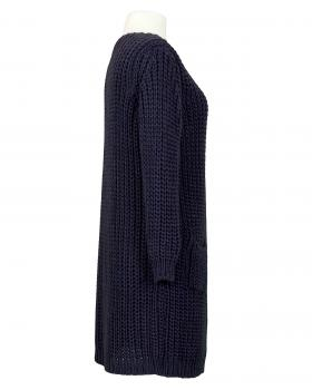 Long Strickjacke Grobstrick, blau (Bild 2)